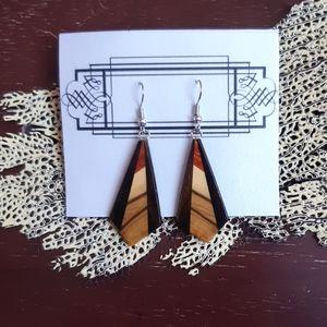 Multi-Tone Wood Earrings